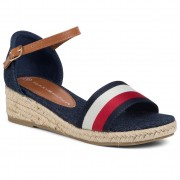 Еспадрили TOMMY HILFIGER - Rope Wedge Sandal T3A2-30656-0048Y Blue/White/Red 004