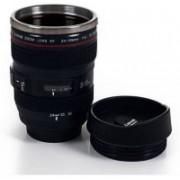 CLOMANA Camera Lens shape Cup Coffee Tea Leakproof Thermos Stainless Steel, Plastic Mug 25 Coffee Maker(Multicolor)