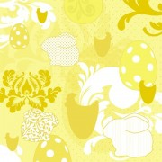 Lunchservet Easter Patchwork yellow
