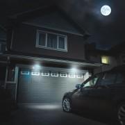 Napelemes LED mozgásérzékelős reflektor világítás 19.5 cm fehér