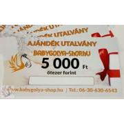 5.000 Ft Értékű BabyGolya-Shop.hu Vásárlási/Ajándék utalvány