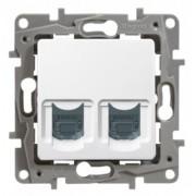 Priza de date dubla CAT 6 RJ45 pentru sistem de Ethernet, incastrat, LEGRAND, NILOE