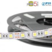 STRISCIA 300 LED BIANCO FREDDO 5 METRI 24V NON IMPERME VT-5050IP20324-LED2430
