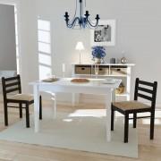 vidaXL Matstol i trä fyrkantig design brun 2 st