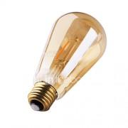 3W E26/E27 LED-gloeilampen ST64 2 COB 180 lm Warm wit 2200 K Decoratief AC 220-240 V