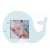 Rama foto decorativa baby fish Procart format foto 10x10 cm Albastru
