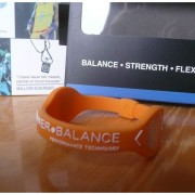 Balanční náramek s hologramem Power Balance - oranžový-bílý