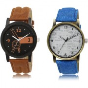 The Shopoholic Black Brown White Combo Latest Fashionable Black And Brown And White Dial Analog Watch For Boys Combo Watches For Mens