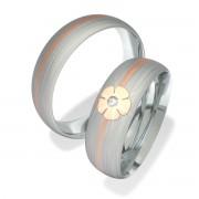 Luxusní Ocelové snubní prsteny 7094-1