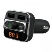 MP3 FM Трансмитер и зарядно за автомобил DIVA FMBT1506, Bluetooth, 2 x USB, DWFMBT1506