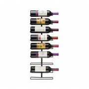 Rack de Muralla Metálico para 9 Botellas de Vino