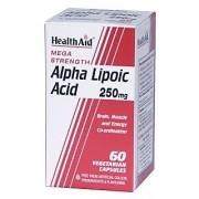 HealthAid Mega Strength Alpha Lipoic Acid 250mg - 60 Capsules