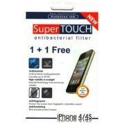 Folie de protectie Super Touch Antibacterial pentru iPhone 4, 4S (Set 2 folii)