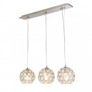 PremiumXL - [lux.pro] Dekorativna dizajn viseća svjetiljka / stropna svjetiljka - krom, srebro (3 x E14)