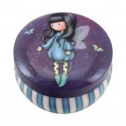 Kerek ékszertartó fémdoboz - Gorjuss - Bubble Fairy