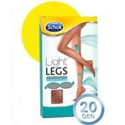 Scholl Light Legs Meias de Compressão 20DEN Cor Pele Tamanho L