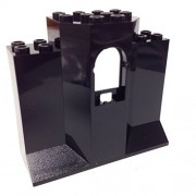 Lego Parts: Castle Wall Panel 3 x 8 x 6 with Window (Black)