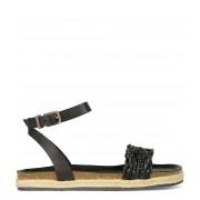 Fred de la Bretoniere Sandalen Espadrilles Sandal Natural Dyed Zwart