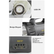 Lanterna cu LED 3W USB si Radio FM ZUKE ZK2181