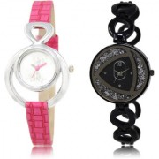 The Shopoholic Silver Black Combo Best Combo Pack Silver And Black Dial Analog Watch For Girls Womens Watches