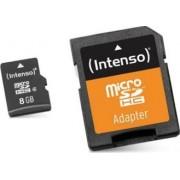 Card de Memorie Micro SD cu Adaptor INTENSO 3413460 8 GB Clasa 10