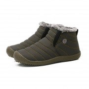 botas de nieve de colores sólidos zapatos calentamiento Slip-on tobillo par