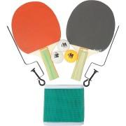 Хилки за тенис на маса 2 + 3 топчета + мрежа и стойка
