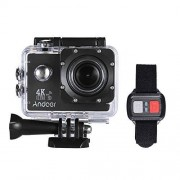 """Andoer Action Camera, Action Sports AN4000 4K 30fps 16MP WiFi Camera Full HD 4X Zoom 40m Waterproof 170° Wide Angle Lens 2"""" LCD Screen Support Slow Motion Drama Photography Remote Control"""