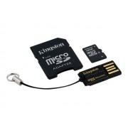Kingston Multi-Kit / Mobility Kit - Carte mémoire flash (adaptateur microSDHC - SD inclus(e)) - 16 Go - Class 10 - microSDHC - avec USB Reader