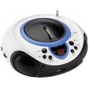 Lenco SCD-38 USB FM CD-radio AUX, CD, FM, USB Blauw