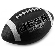"""Jesn Sport 12"""" Rugged Rubber Children's Kid's Toy Football, Add On for Sports Playsets (Black)"""