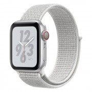 Apple WATCH Nike+ Series 4 GPS+Cellular 40 mm color argento - Nike Sport Loop bianco ghiaccio