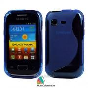 Husa Samsung S5300 Galaxy Pocket Silicon Gel Tpu S-Line Albastra