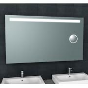 Wiesbaden Spiegel Tigris met LED Verlichting En Scheerspiegel 140x80 cm