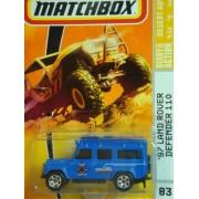 Matchbox Desert Adventure Series #83 97 Land Rover Defender 110 Blue Detailed Diecast Scale 1/64 Collector