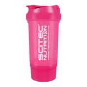 Shaker 500 ml Traveller átlátszó NEON pink Scitec Nutrition