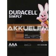 Duracell Basic MN2400 LR03 AAA tartós elem 2db/bliszt. ár/db