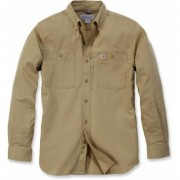 Carhartt Rugged Professional Work Long Sleeve Shirt Camicia a manic... Verde Marrone XL