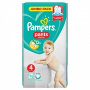 Scutece Pampers Active Baby Pants 4 Jumbo Pack, 52 buc/pachet