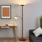 Lampenwelt.com Lámpara de pie y foco a techo Raiko con atenuador