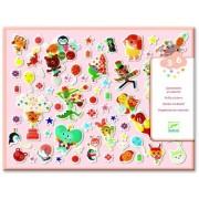 Zestaw 126 sztuk miękkich wypukłych naklejek PARTY, zabawki kreatywne dla dziecka DJECO DJ09080