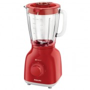 Blender Philips Daily Collection ProBlend 4 HR2105/50, 400 W, 1.25 l, 2 Viteze, Functie impuls, Rosu