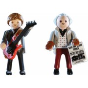 Set cu 2 figurine Playmobil Back To The Future Marty McFly Si Dr. Brow