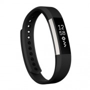 For Fitbit Alta Watch Oblique Texture Silicone Watchband Small Size Length: about 18.5cm(Black)