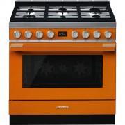 Smeg CPF9GPOR Cocina Portofino Naranja con Encimera a Gas y Horno Eléctrico Pirolítico A+ ¡Envío Gratis!