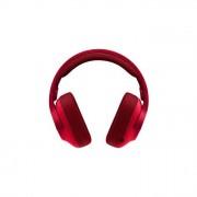 Logitech G433 Cuffia con Microfono per Giochi Cablata AudioSurround 7.1 Rosso