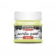 Pentart Fényes limezöld színű akril bázisú hobbi festék 50 ml