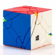 moyu axis time wheel velocidad lisa magic cube finger puzzle juguete 64mm - color