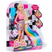 BARBIE Rainbow Hair set de joaca la coafor CFN48