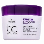 Schwarzkopf Professional BC Bonacure Keratin Smooth Perfect Treatment Заглаждаща маска за непокорна коса 200 ml